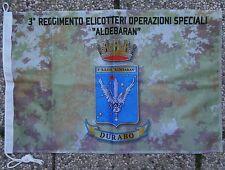 """Bandiera """"3° RGT. ELICOTTERI OPERAZIONI SPECIALI ALDEBARAN - 3° REOS"""" - (50x75)"""