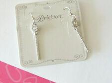 Brighton Silver Pearl Crystal Alcazar Margaret Drop Earrings Jewelry