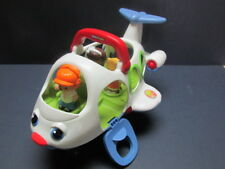Fisher Price Little People Little Movers Airplane Talking + 3 little people