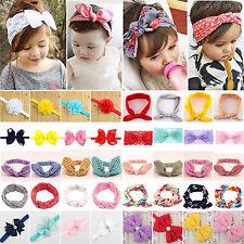 Girls Baby Toddler Kids Bunny Rabbit Bow Knot Turban Headband Hair Band Headwrap