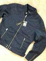 "DIESEL MEN'S NAVY BLUE ""J-STREET"" ZIP BOMBER JACKET COAT - XXL - NEW & TAGS"