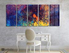 Colorful Grunge Wall Art Metal Print Decor Ready to Hang