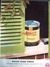 1957 Dulux 'Gloss' Finish Paint AD Turquoise Blue 2 - Original Print ADVERT