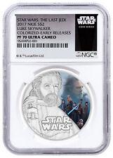 2017 Niue Star Wars Last Jedi Luke Skywalker 1 oz Silver NGC PF70 UC ER SKU49210
