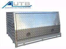 Aluminium Ute Tray/Canopy Combo Unit Suit Hilux Dual Cab 2015+ 3D Checkerplate