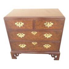 custom quality pierce carved mahogany burl bachelors silver chest dresser