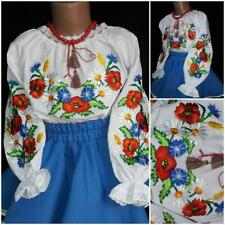 New! Ukrainian embroidered blouse for girl. Size 3-12 years. Vyshyvanka