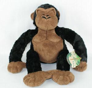 "First and Main 2002 Gorilla Joe 16"" Plush - Item V6605 Black Brown Soft Stuffed"