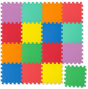 Spielmatte 16tlg Spielteppich Puzzlematte Kinderteppich Matte Schutzmatte NEU