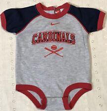 MLB Genuine Merchandise Team NIKE St. Louis CARDINALS Infant Creeper Sz 3-6 Mos