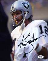 Ken Stabler PSA DNA Coa Autograph Hand Signed 8x10 Raiders Photo Autograph