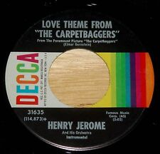 Henry Jerome 45 The Seventh Dawn / Love Theme From The Carpetbaggers  EX