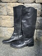 Franco Sarto Women's Black Leather Riding Boots Size 8