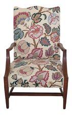 F30798Ec: Antique 19th C. Federal Inlaid Mahogany Lolling Chair