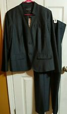 JONES NY, LADIES SZ 14 Navy/Black PANTSUIT