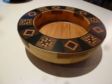 Handcrafted Handmade Wood Segmented Bowl with Inlay, Fabulous !!!