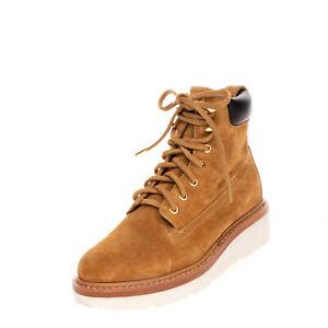 RRP€380 RAG & BONE Suede Leather Combat Boots EU 36 UK 4.5 US 6 Vibram Sole Logo
