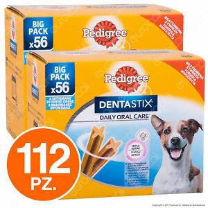 Pedigree Dentastix Small per l'igiene orale del cane - 2 Confezioni da 56 Stick