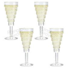 Set of 4 Durobor 140ml Modern Champagne Flutes Prosecco Quality Wine Glasses