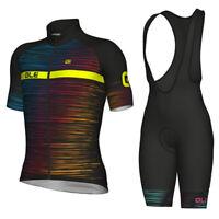 Mens MTB Cycling Bike Wear Clothing Bicycle Jersey Pad Bib Shorts Set S32