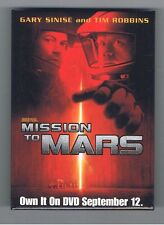 2000 Mission to Mars Pinback Button Movie Advertising Gary Sinise Space De Palma