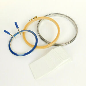 3 Vintage Embroidery Hoops 1 Pack Embroidery Floss Thread Holders 30 total