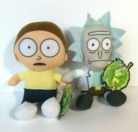 New Rick and Morty (Set of 2) Licensed Plush Stuffed Toys