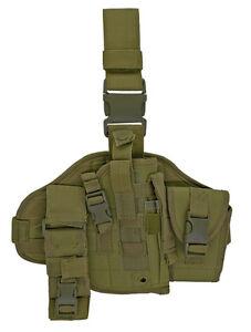 Adjustable MOLLE Assembled OD Green Drop Leg Holster Medium Large Guns Pistols