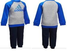 ADIDAS BABY INFANT KIDS BOYS TODDLER TRACKSUIT SET PLAY COTTON/POLY AY6022  £20