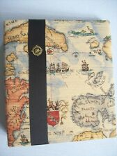 Fabric Covered 3 Ring Binder / Album - Old World Map Print