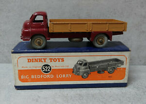 Dinky Toys 522 Big Bedford Maroon / Fawn   Boxed  original