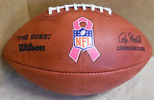 """NFL GAME BALL """"THE DUKE"""" AUTHENTIC BREAST CANCER AWARENESS FOOTBALL BEAUTIFUL !"""