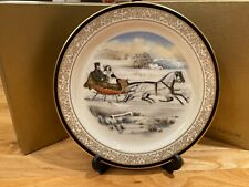 Lenox Currier & Ives The c.1853 The Road Winter collectors plate 2nd in series