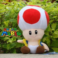 Nintendo Super Mario Bros Runing Game Plush Toy Red Toad Stuffed Animal 6.5""