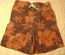 New SZ S 28 30 Swimsuit Swim Trunks Board Shorts Young Men Browns Merona 008