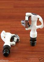 WELLGO W-41 ROAD BIKE PEDALS 246g WITH CLEATS, White