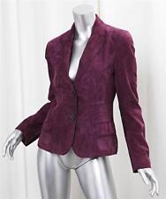 AKRIS Plum Purple Suede Leather Blazer Jacket Coat sz.6-38