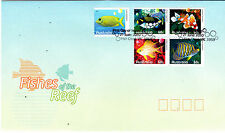 2010 Fishes Of The Reef (Block of 4 x 60c & 10c ) FDC - Fish Creek Vic 3959 PMK