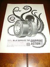 1964 M & H Racemaster Tires Slicks *Original Ad*
