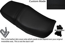 BLACK STITCH CUSTOM FITS HONDA CB 400 NC31 SUPERFOUR DUAL LEATHER SEAT COVER
