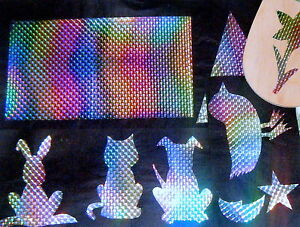 prismatic glitter iron on. cut shapes for FABRIC,etc.wholesale.5 metres