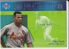 ALBERT PUJOLS 2001 Upper Deck ROOKIE BASEBALL Record Card ST. LOUIS CARDINALS