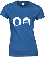Flight of the Conchords Silhouette, Jemaine, Bret Inspired ladies T-Shirt UK Top