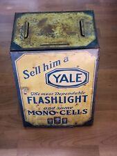 Antique Yale Flashlight & Some Mono Cells Store Display Circa 1920's Free Ship!