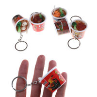 Key ring Instant noodles Simulation Food Key Chains noodle Creative Keychain _ti
