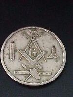 VINTAGE 1869 - 1976 Masonic  Freemasonry MT. PICKERING LODGE COIN TOKEN