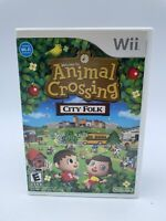 Animal Crossing City Folk Nintendo Wii game Disc And Case Not For Resale Rare