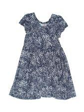 Toddler Girl Lularoe Dot Dot Smile DDS Blue White Geometric Dress Size 2 2T