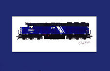 """Montana Rail Link SD45-2 #307 11""""x17"""" Matted Print by Andy Fletcher signed"""