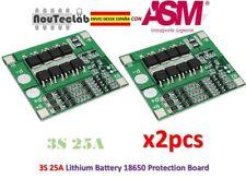 2pcs 3S 25A Li-ion 18650 BMS PCM Battery Protection Board with Balance BMS PCM